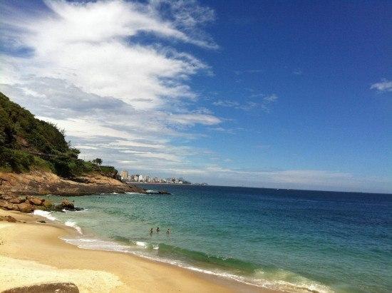 Our semi-private beach in Rio de Janeiro