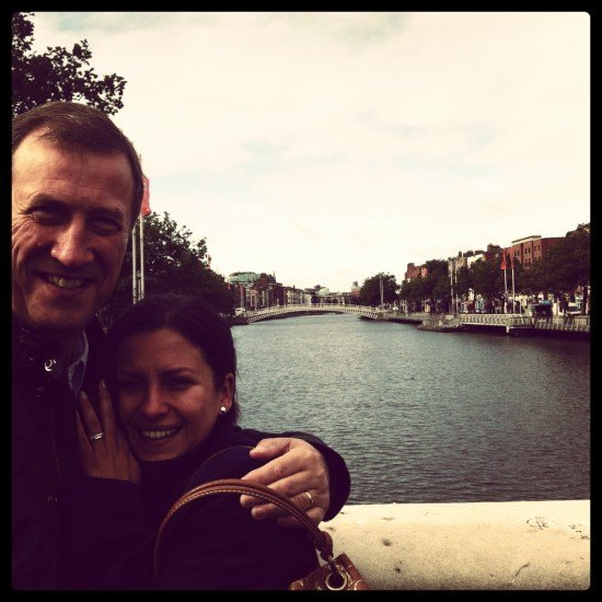 Happy by the River Liffey