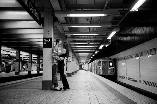 Katie Goldstein and Husband in Grand Central Subway Station Image by RAD Photography