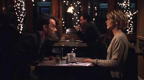 Meg Ryan and Tom Hanks in You've Got Mail at Cafe Lalo