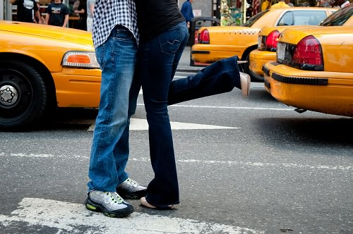 The Perfect Kiss in Times Square Image by RAD Photography