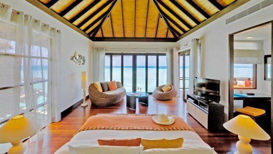 A lovely Water Villa room at Velassaru