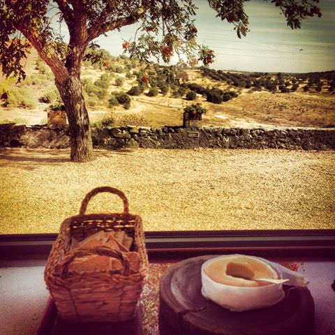 A breakfast with a view - and that delicious Serpa cheese.