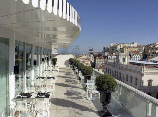 The terrace at Altis Avenida, Lisboa