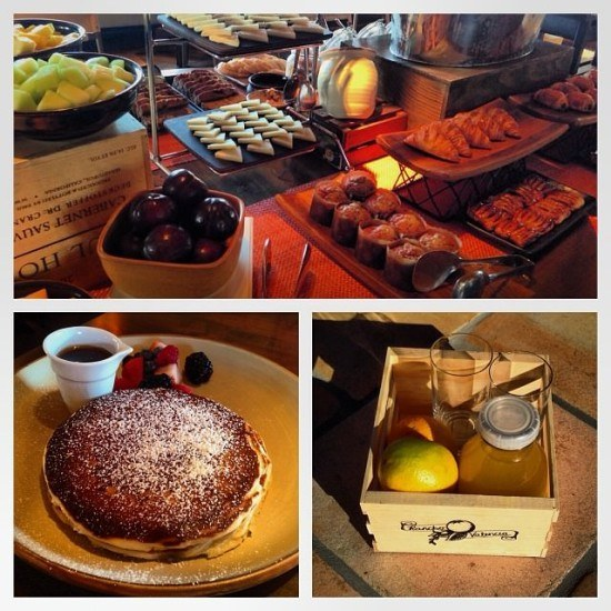 I loved the breakfast at Rancho Valencia. The perfect European and American mix