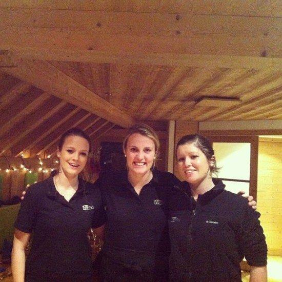 Our lovely VIP Ski Chalet Girls