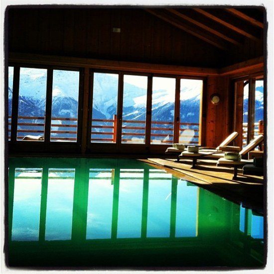 A beautiful pool at Chalet d'Adrien