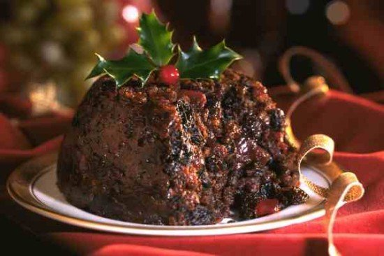 Christmas pudding, which screams for brandy butter