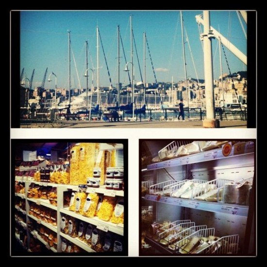 Eataly in Genoa - located by the Port, it also has amazing views