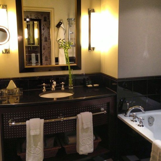 Our bathroom at the Sofitel London St James