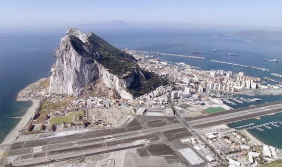 Gibraltar and its unusual runway