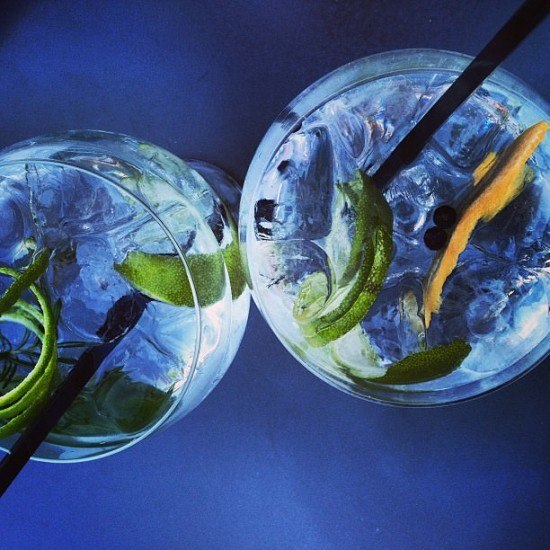 The prettiest gin & tonic ever