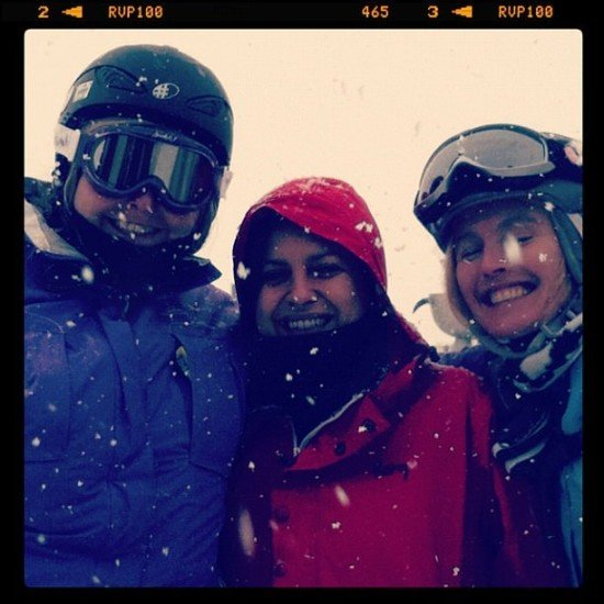Me and the girls looking very cold!