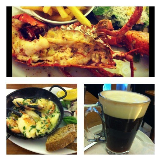 Delicious food in Howth
