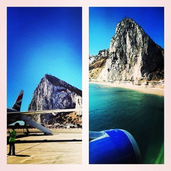 Landing in Gibraltar, quite an experience