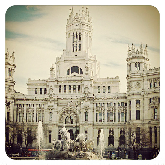 It's when I see the Post Office building that I know that I am in Madrid