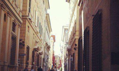 Via Garibaldi in Old Town Genova