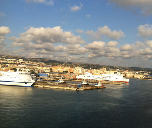 Civitavecchia as seen from our suite