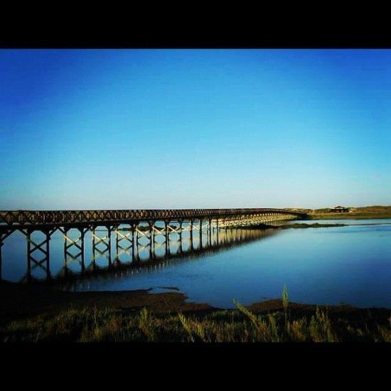 The wooden bridge that leads to Quinta do Lago beach - without a doubt, one of my favourite places in the Algarve
