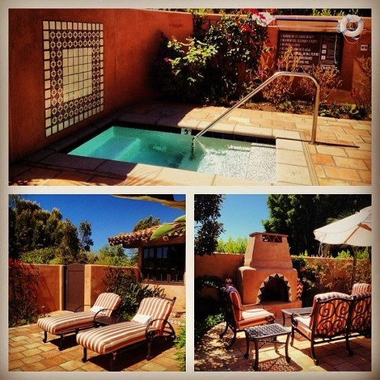Our casita's private patio and baby pool (aka jacuzzi)