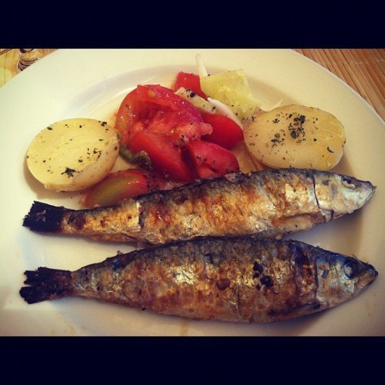 Grilled Sardines - or summer on a plate