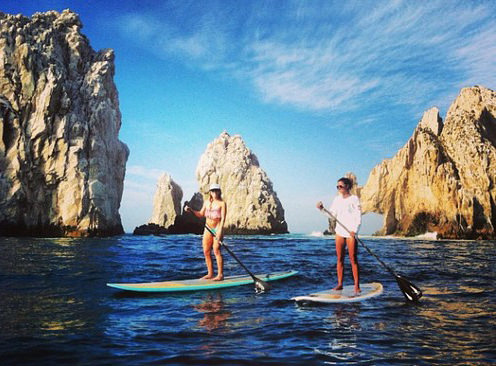 I wished this was me, but these were my fab instructors from CABO SUP