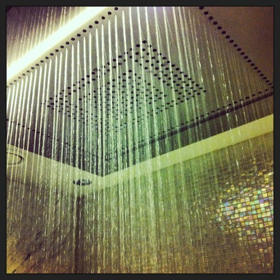The most amazing shower ever at the Westin Grand Berlin